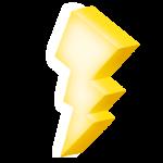 Logo éclair électrique dessin 3D